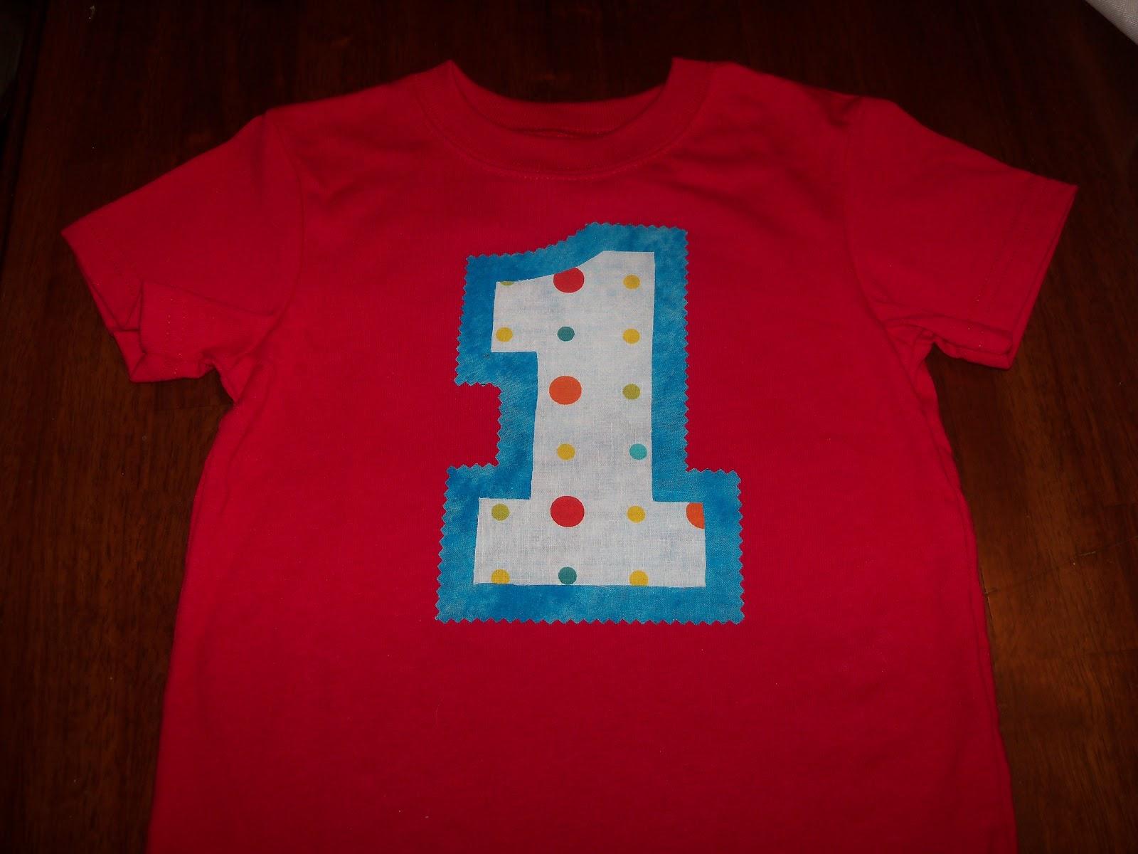 DIY 1st Birthday Shirt