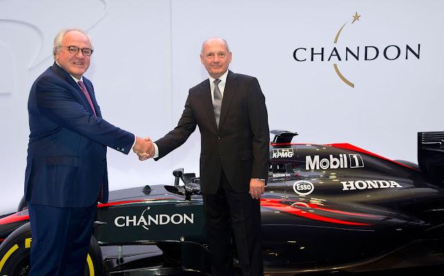 McLaren brindará con Moët&Chandon