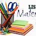 Lista de Materiais Didáticos para 2015