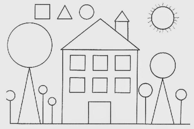 Geometr a primero abril 2014 - Formas de pintar una casa ...