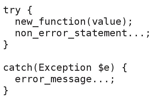 cara menggunakan exception php