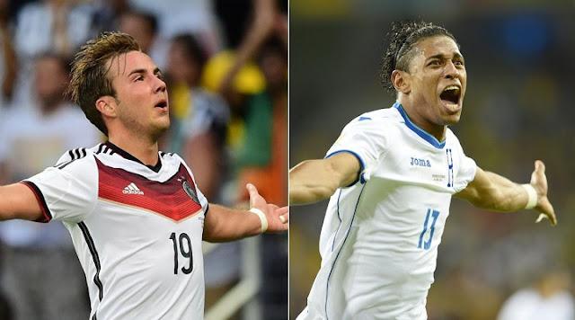 Honduras vs Alemania en vivo