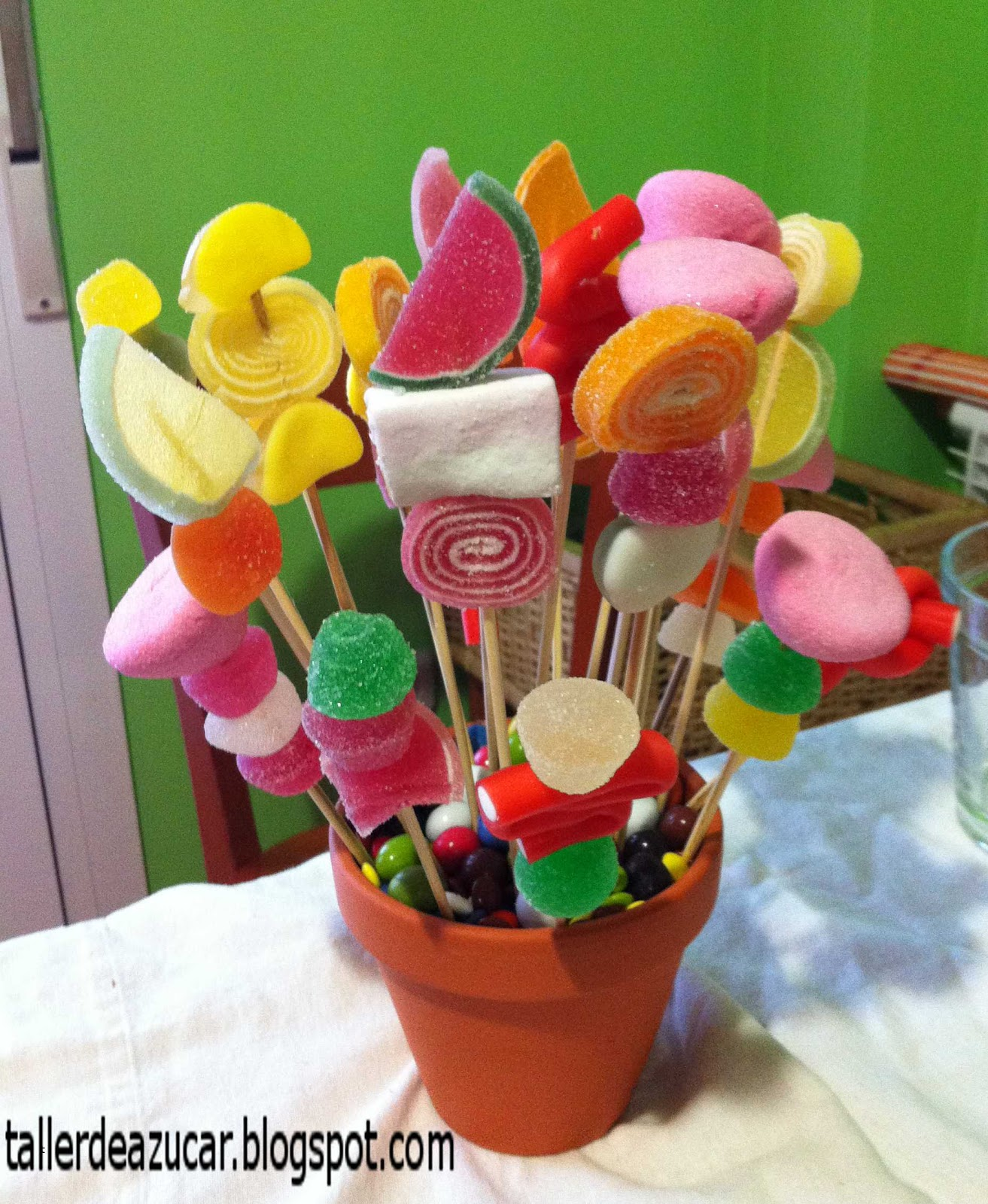 taller de az car brochetas de chuches ideas dulces