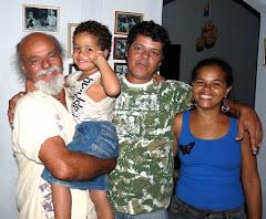 Valmir, irmão, sobrinho e cunhada