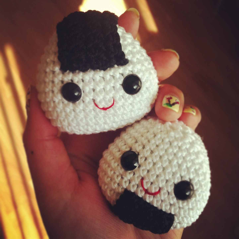 Free Onigiri Couple Amigurumi Crochet Pattern By Handmadekitty : Oh my! So amiliciouzzz ~ ! Nanaliciouz