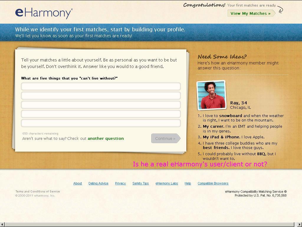 Eharmony dating