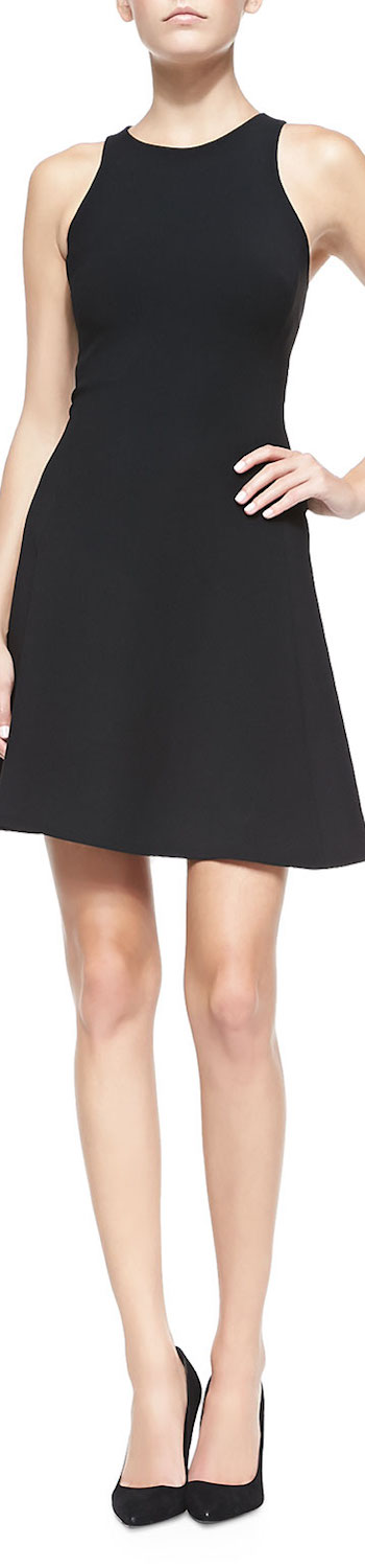 Ralph Lauren Black Label Yisbelle Sleeveless Fit-and-Flare Dress Black