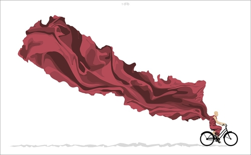 14-Ride On-Nepal-Thomas-Yang-100copies-Emoji-Bicycle-Themed-Drawings-www-designstack-co