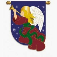 Holiday Angel Mini Flag