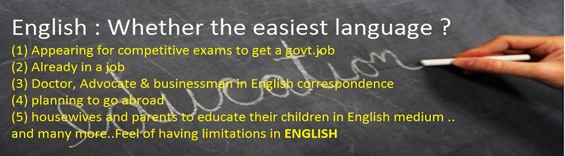 English : Whether the easiest language ?