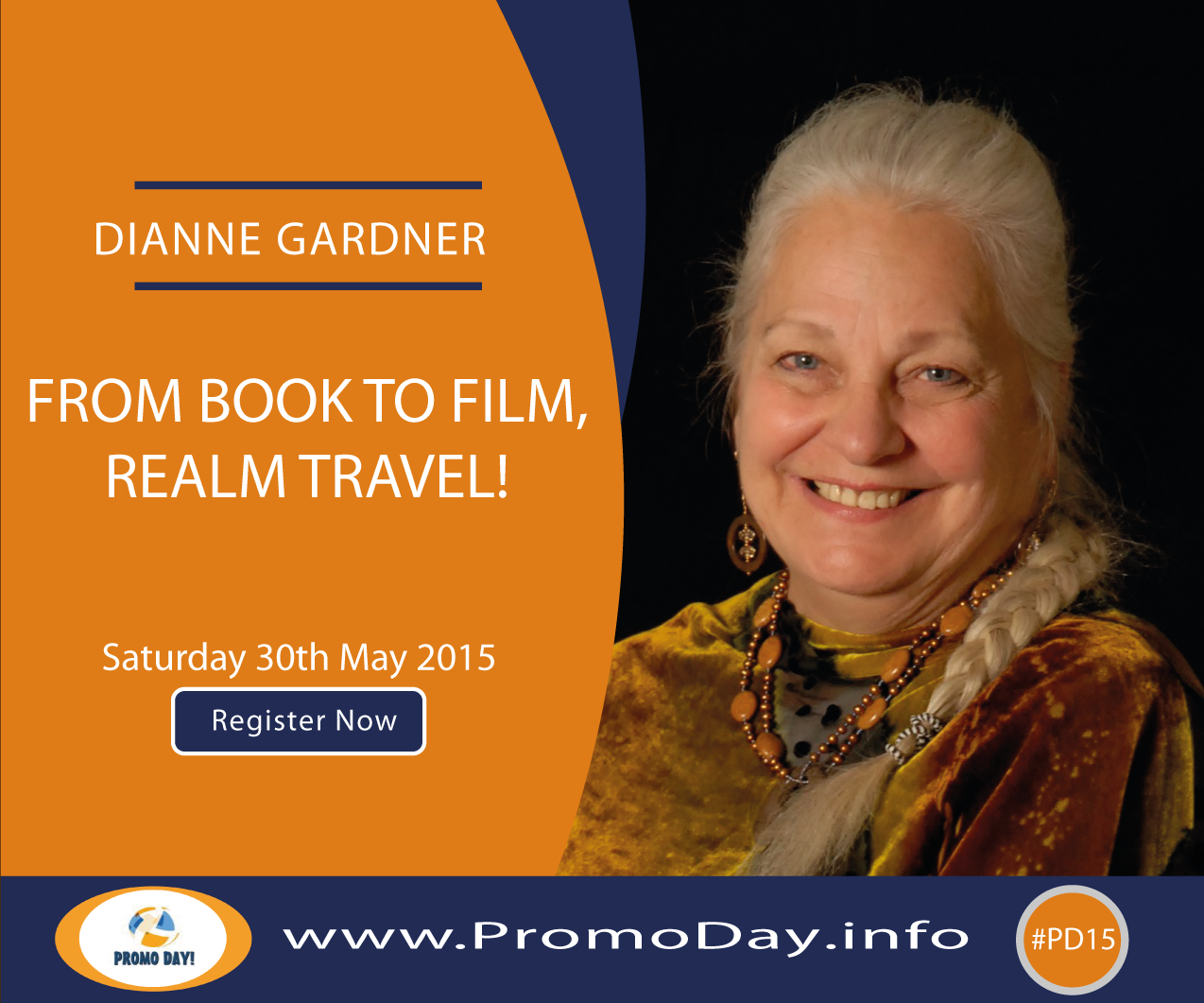 #PD15 Webinar: From Book to Film, Realm Travel! with Dianne Gardner, www.PromoDay.info #Free #Event
