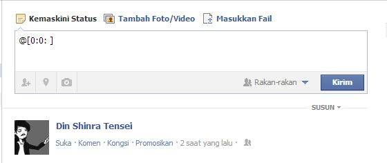 facebook, trick, trick facebook, tulisan biru,