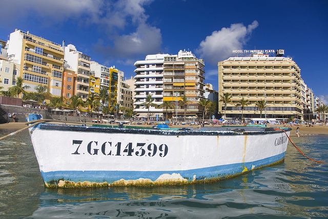 Las Palmas is becoming a popular stop-off for cruise ships.