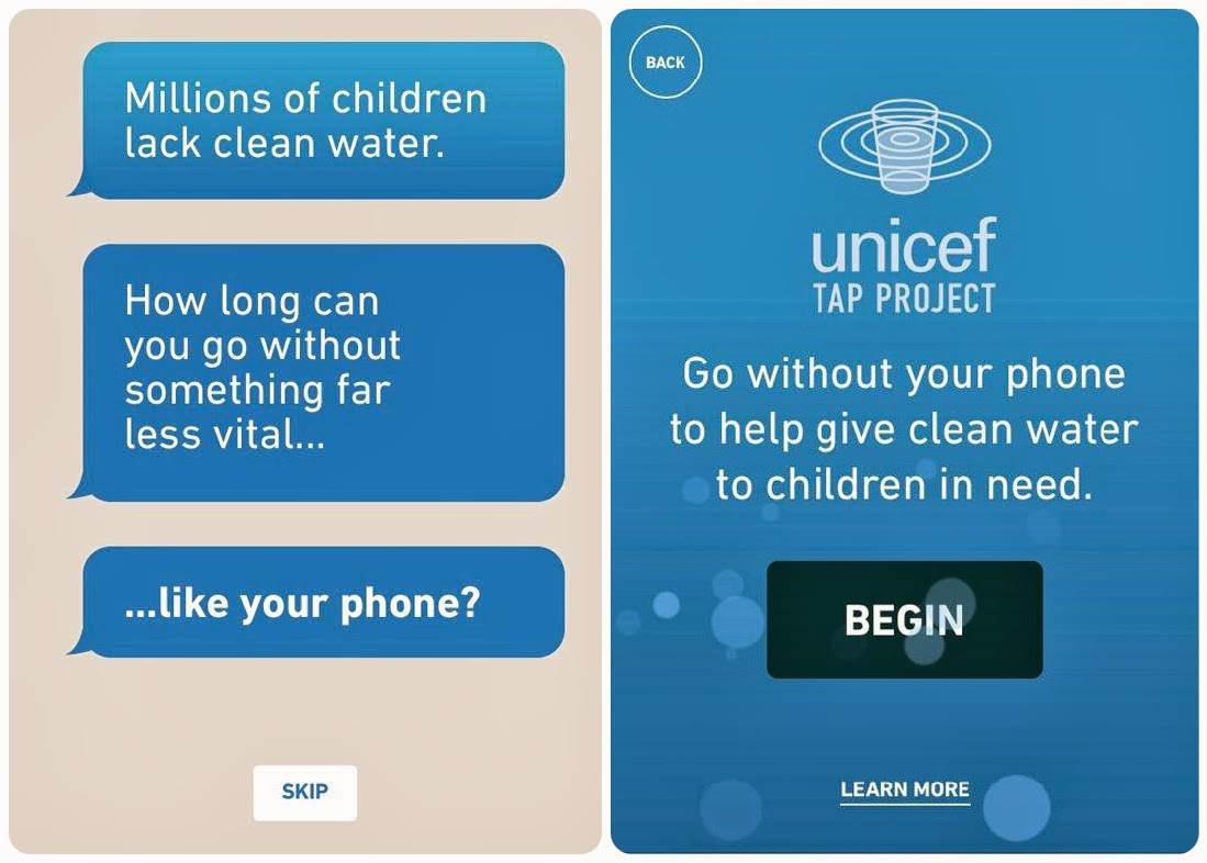 Unicef Tap Project Screenshot