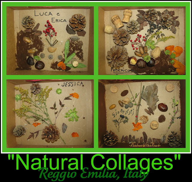 Nature collage preschool