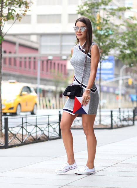 expresion de mujer camila coelho nyfw day 2 outfit sporty chic