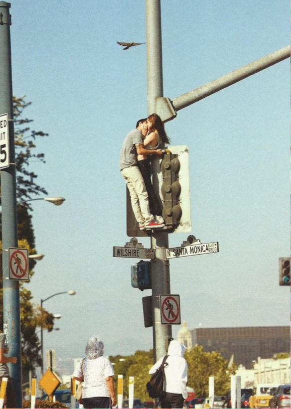 Kissing on santa monica blvd