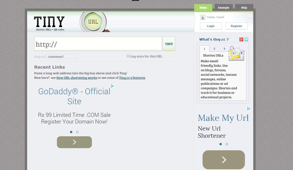 Tiny.cc URL shortener