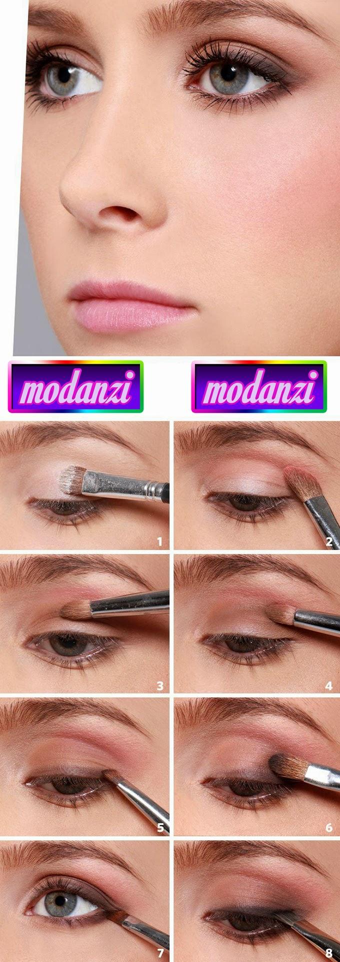 8 Adımda Doğal Göz Makyajı (Resimli Anlatım)
