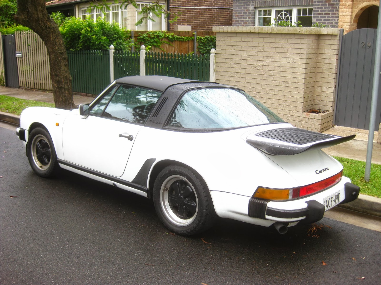 Aussie Old Parked Cars 1985 Porsche 911 3 2 Carrera Targa