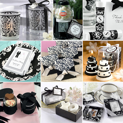 black-white-wedding-favors