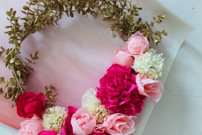 DIY Paper Flower Wreath | Poppytalk