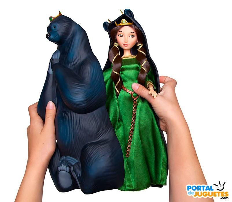 muñeca reina elinor brave set transformacion carcasa oso