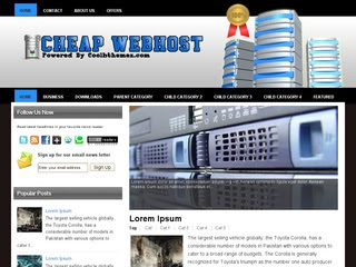 Cheap Webhots Blogger Templates