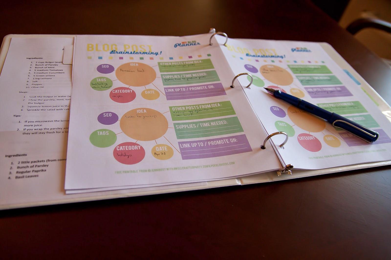 Blog Planner free download
