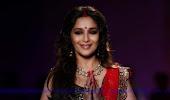 Gorgeous Madhuri Dixit in red lehanga-choli Latest ramp walk at DCW