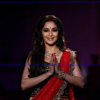 Gorgeous Madhuri Dixit in red lehanga-choli Latest ramp walk at DCW