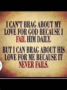 God never fails me