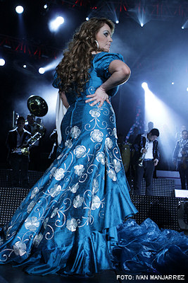 Vestido azul de jenny rivera