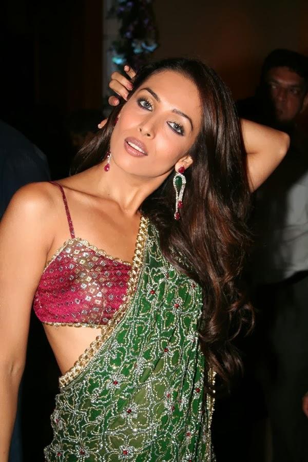 Malaika Arora Khan in Transparent Saree Hot Navel Show
