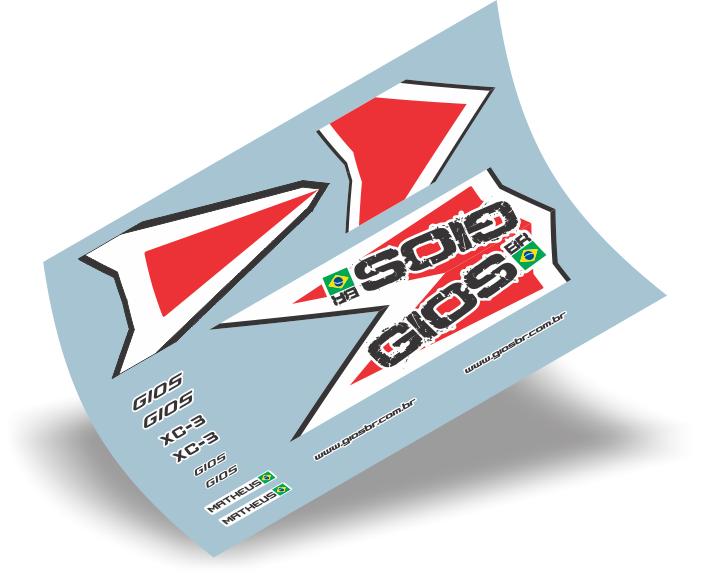 Armario Capsula Masculino ~ Stickers Design Adesivo bike Gios XC 3