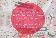 Miss Belanja Online:  Birthday Giveaway~ *2nd anniversary*