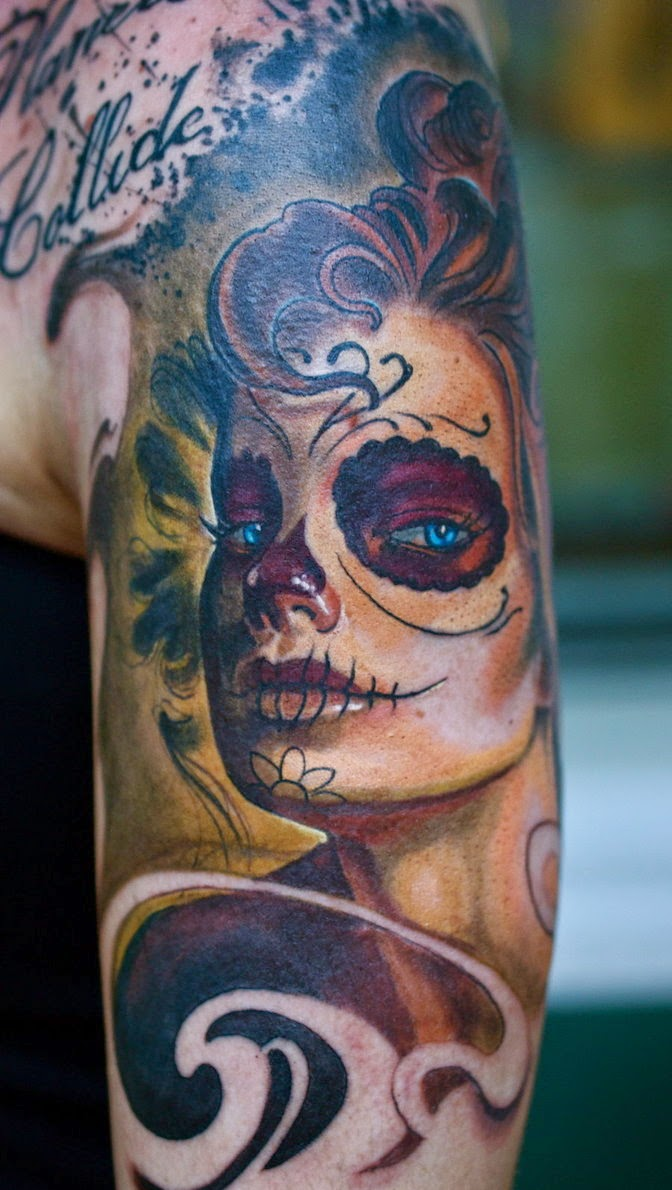 Wonderful Catrina Tattoos Design Idea