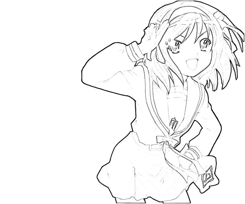 printable-suzumiya-haruhi-character-coloring-pages