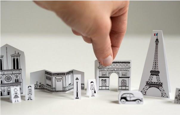 Mini Cidade de Papel para Imprimir e Colorir paris