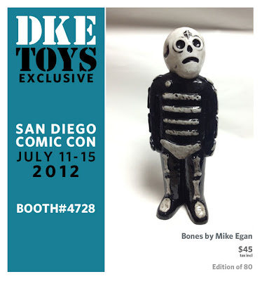 San Diego Comic-Con 2012 Exclusive Bones Vinyl Figure by Mike Egan