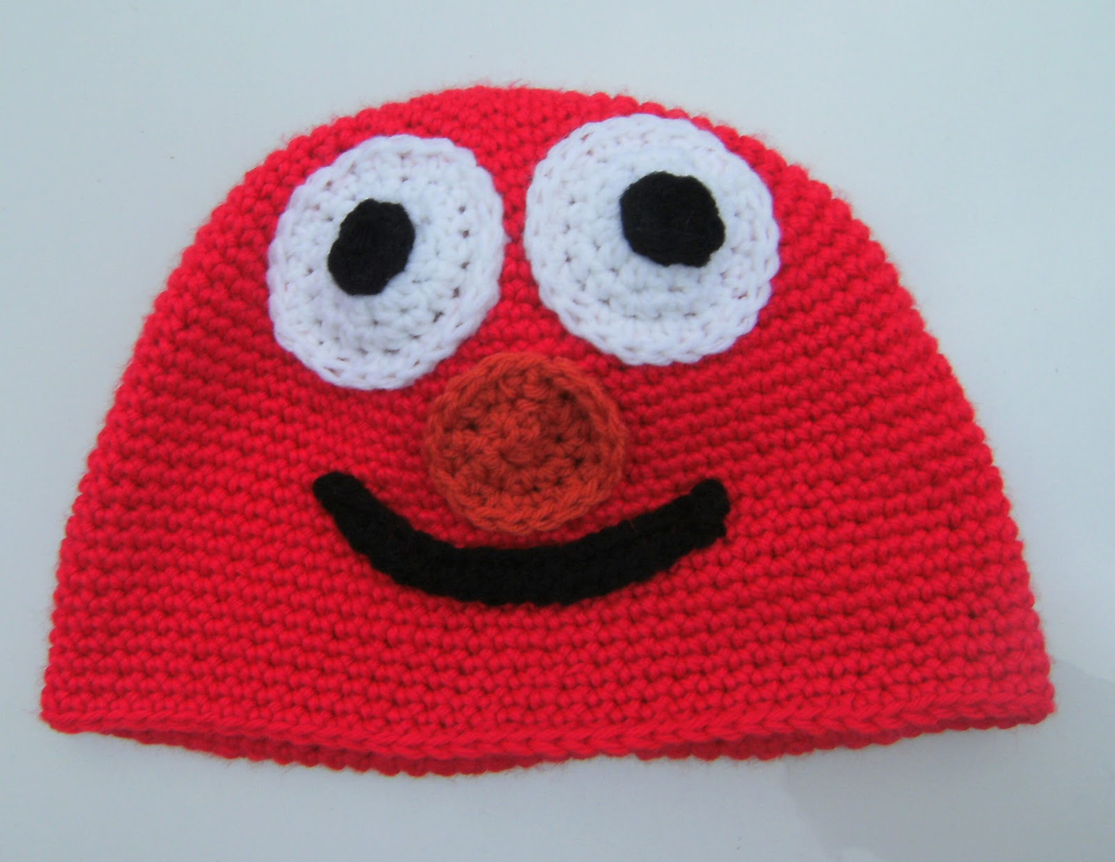 Elmo Knitting Pattern : Projects Around the House: Elmo Crochet Hat Pattern