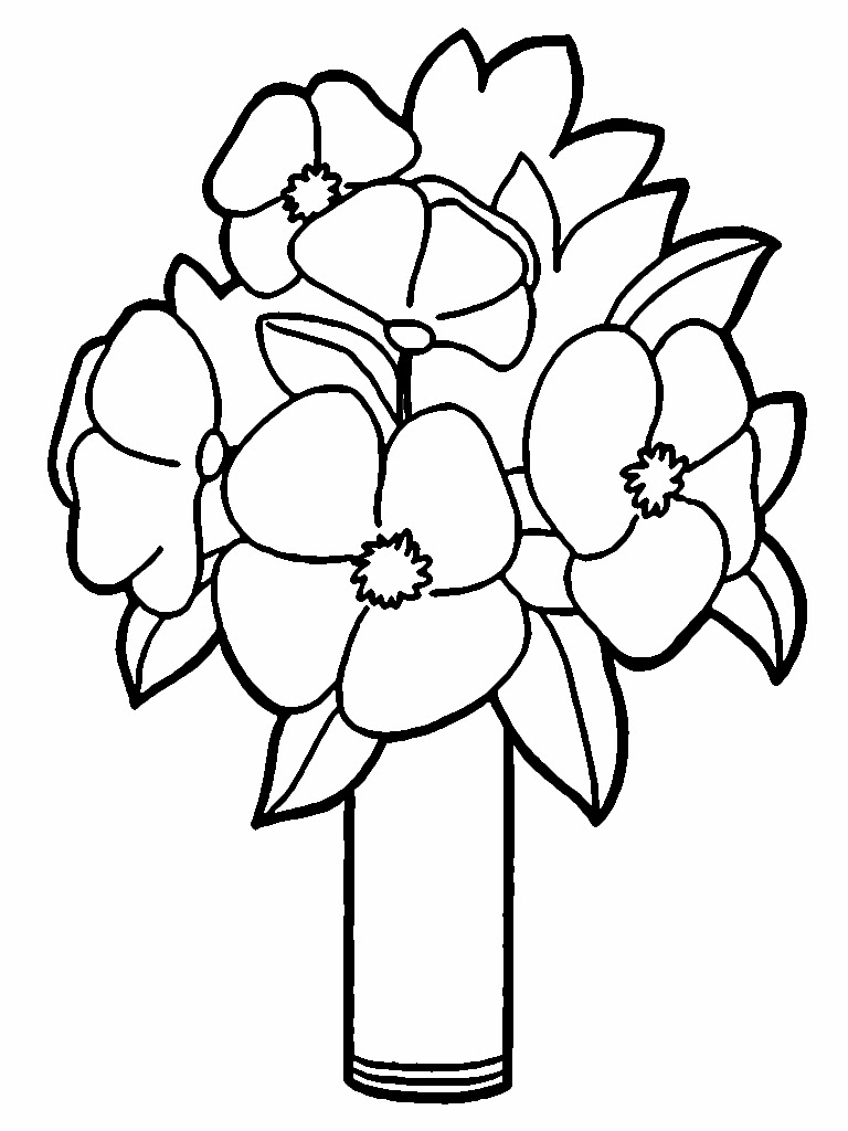Flower Coloring Pages For Valentines
