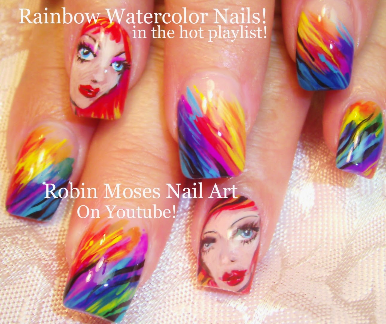 "Robin Moses Nail Art February 2015: Robin Moses Nail Art: ""rainbow Nails"" ""rainbow Nail Design"