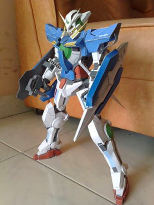 001 Gundam Exia Free Paper Model Download