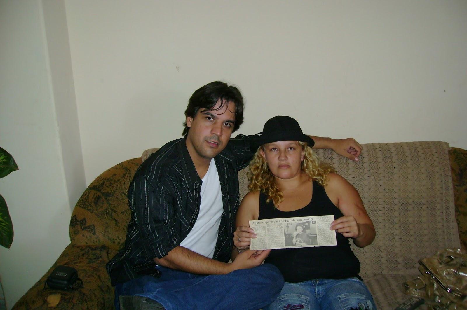 Psicólogo Ataíde Ferreira e a protagonista Patrícia Fernanda