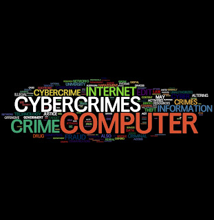 A collection of words, including Crime, Cybercrime, Internet, Information and Theft