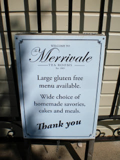 Gluten free food at the Crazy Golf at the Merrivale Tea Rooms in the Model Village in Great Yarmouth