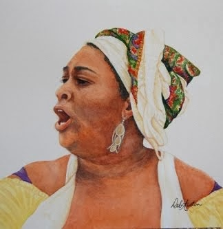 Gullah Singer (watercolor)