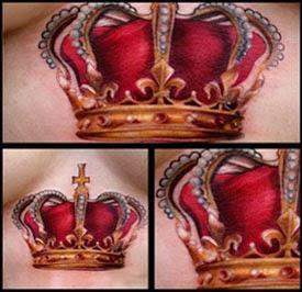 Tatuagens de coroa realistas