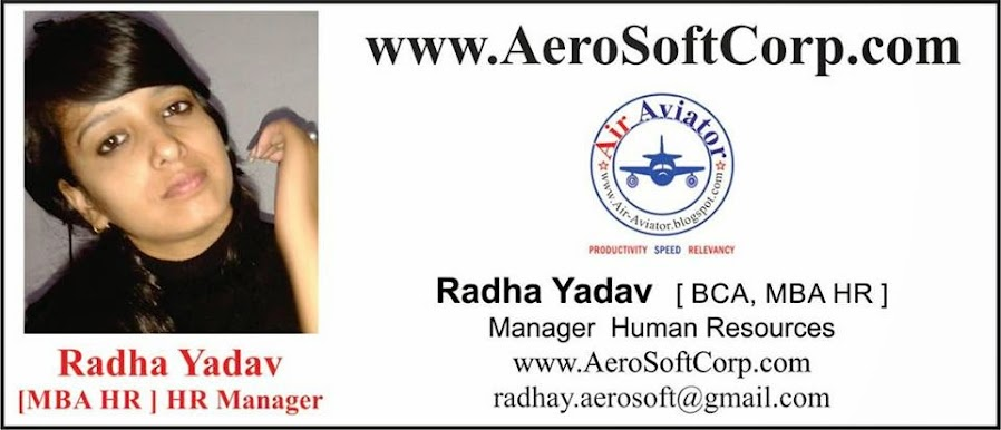 Radha Yadav HR Manager AeroSoft Corp